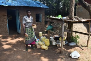 The Water Project: St. Elizabeth Shipala Primary School -  School Cook At The Dishrack