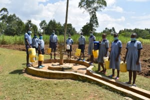 The Water Project: St. Elizabeth Shipala Primary School -  Students Pose At The Well