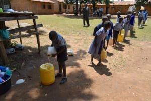 The Water Project: St. Elizabeth Shipala Primary School -  Delivering Water To School Kitchen