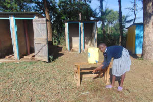 The Water Project: St. Elizabeth Shipala Primary School -  Handwashing Outside The Latrines