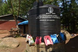 The Water Project: St. Elizabeth Shipala Primary School -  Small Plastic Rain Tank