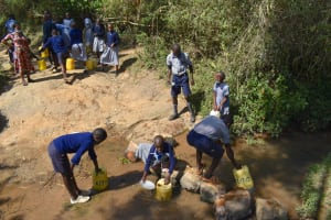 The Water Project: St. Kizito Shihingo Primary School -  Collecting Water