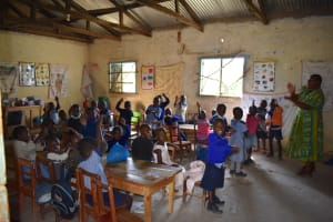 The Water Project: St. Kizito Shihingo Primary School -  Early Childhood Development Students In Class