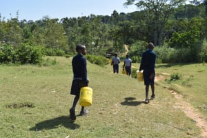 The Water Project: St. Kizito Shihingo Primary School -  Headed To The Stream