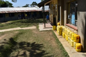 The Water Project: St. Kizito Shihingo Primary School -  Water Storage Point