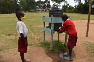 The Water Project: Kapkeruge Primary School -  Students Handwashing