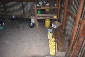 The Water Project: Kapkeruge Primary School -  Water Storage Containers In The Kitchen