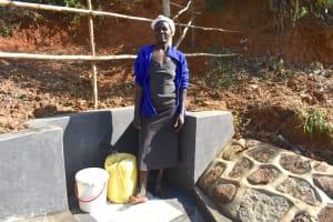 The Water Project: Maraba Community, Shisia Spring -  Doreen Akhaoya Shisia At The Spring