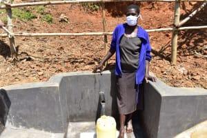 The Water Project: Maraba Community, Shisia Spring -  Doreen Akhaoya Shisia Masked Up