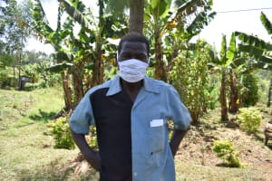 The Water Project: Maraba Community, Shisia Spring -  Samuel Weremba Masked Up