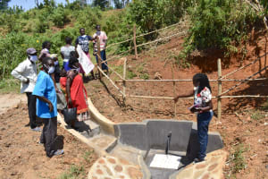 The Water Project: Maraba Community, Shisia Spring -  Trainer Adelaide Leads Site Management Session