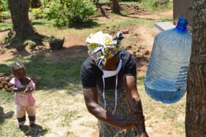 The Water Project: Maraba Community, Shisia Spring -  Handwashing Lesson Built For All Ages