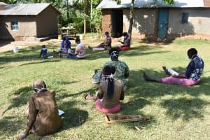 The Water Project: Maraba Community, Shisia Spring -  Physical Distancing