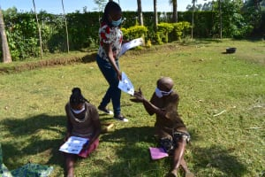 The Water Project: Maraba Community, Shisia Spring -  Visual Aids And Pamphlets Were Of Great Help Translating Topics