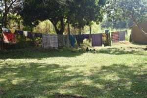The Water Project: Emusaka Community, Manasses Spring -  Clothesline