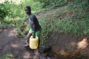 The Water Project: Emusaka Community, Manasses Spring -  Leaving The Spring