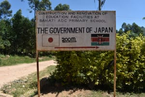 The Water Project: Bahati ADC Primary School -  School Sign