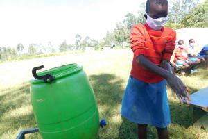 The Water Project: St. Peter's Ebunga'le Primary School -  Juliet Demonstrating Handwashing