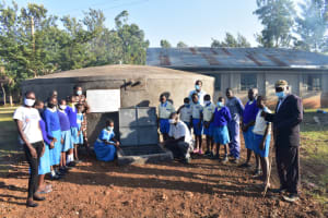 The Water Project: St. Peter's Ebunga'le Primary School -  Posing At The Tank In Celebration