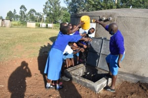The Water Project: St. Peter's Ebunga'le Primary School -  Pupils Celebrating By Splashing Water
