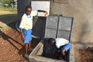 The Water Project: St. Peter's Ebunga'le Primary School -  Pupils Celebrating Water