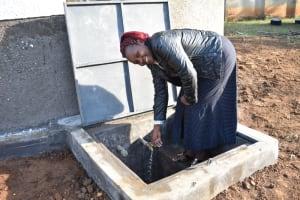 The Water Project: St. Peter's Ebunga'le Primary School -  Sanitation Teacher Irene Angido Celebrating Water