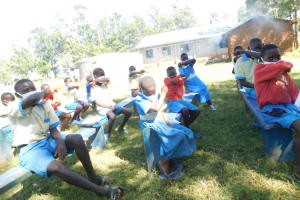 The Water Project: St. Peter's Ebunga'le Primary School -  Pupils Demonstrating How To Cough And Sneeze Using The Elbow