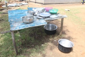 The Water Project: St. Stephens ACK Eshiakhulo Secondary School -  Dishrack