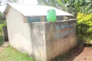 The Water Project: St. Stephens ACK Eshiakhulo Secondary School -  Girls Latrines With Handwashing Station On Wall