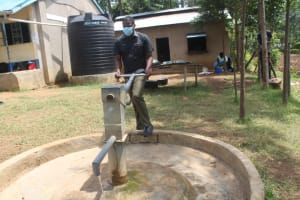 The Water Project: St. Stephens ACK Eshiakhulo Secondary School -  Mr Lusaa At The Well