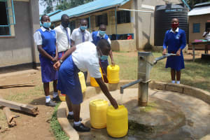 The Water Project: St. Stephens ACK Eshiakhulo Secondary School -  Students Collecting Water