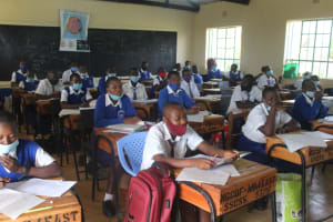 The Water Project: St. Stephens ACK Eshiakhulo Secondary School -  Students In Class