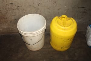 The Water Project: St. Stephens ACK Eshiakhulo Secondary School -  Water Storage Containers