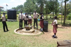 The Water Project: Epanja Secondary School -  Students Collecting Water