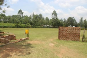 The Water Project: Epanja Secondary School -  School Entry Point With Handwashing Station