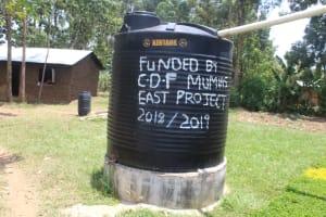 The Water Project: Epanja Secondary School -  Small Plastic Rain Tank