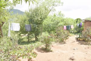 The Water Project: Kasioni Community D -  Clothesline