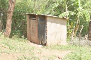 The Water Project: Kasioni Community D -  Latrine