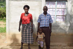 The Water Project: Mbiuni Community C -  Eluid Katunda And His Family