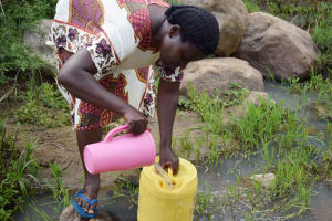 The Water Project: Mbiuni Community C -  Fetching Water
