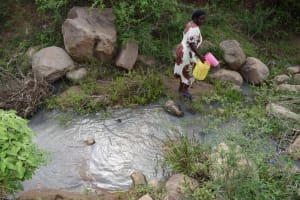 The Water Project: Mbiuni Community C -  Open Water Source