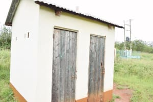 The Water Project: Nzoila Secondary School -  Staff Latrines