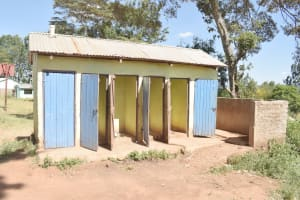 The Water Project: AIC Kaseve Primary School -  Boys Latrines