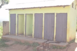 The Water Project: AIC Kaseve Primary School -  Girls Latrines