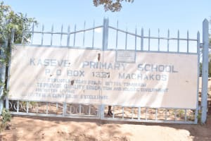 The Water Project: AIC Kaseve Primary School -  School Sign