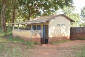 The Water Project: Utuneni Secondary School -  Boys Latrines