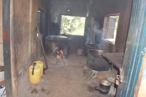 The Water Project: Utuneni Secondary School -  Inside Kitchen