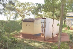 The Water Project: Utuneni Secondary School -  Staff Latrines
