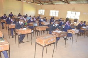 The Water Project: Utuneni Secondary School -  Students In Class