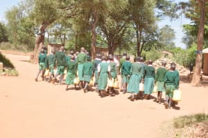 The Water Project: Itulu Primary School -  Students Walk With Water